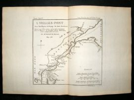 Barthelemy 1790 Antique Map Hellespont Greece